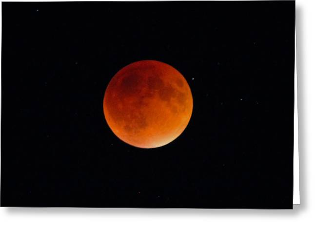 Blood Moon 2 Greeting Card by Cathie Douglas
