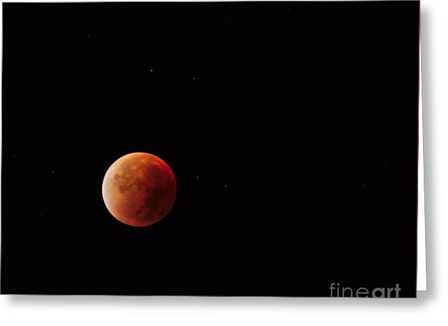 Blood Moon Greeting Card by Angelo DeVal