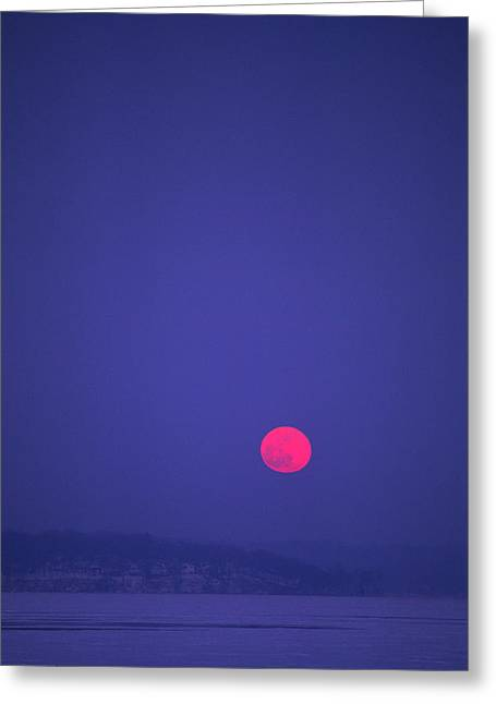 Blood Moon - Cedar Point - Lake Geneva Wisconsin Greeting Card