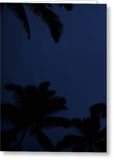 Blood Moon In Hawaii  - Triptych   Part 1of 3 Greeting Card