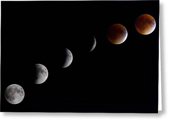 Blood Moon Lunar Eclipse Greeting Card