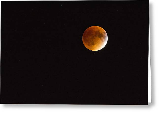 Blood Moon Luna Eclipse Greeting Card