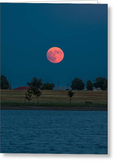 Blood Moon Rising Greeting Card by Brandon Green