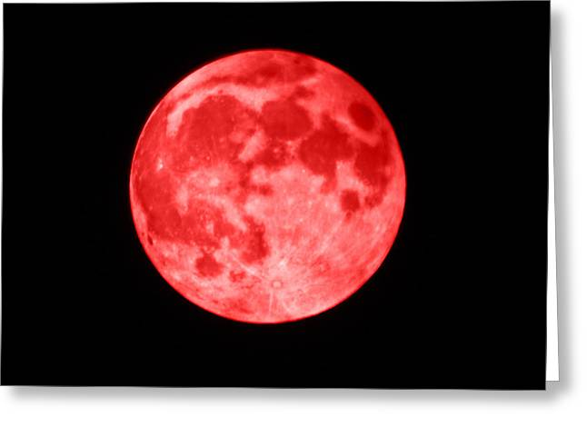 Blood Moon Greeting Card by Shane Bechler