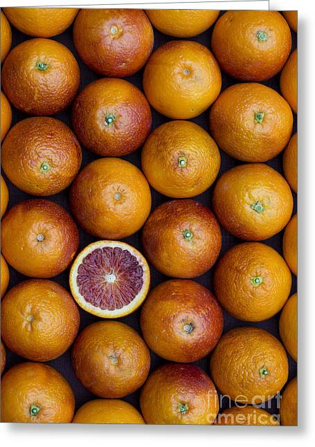 Blood Orange Fruits Greeting Card by Tim Gainey