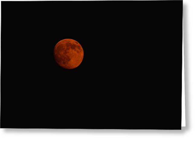 Blood-red Moon Greeting Card by Daniel  Taylor