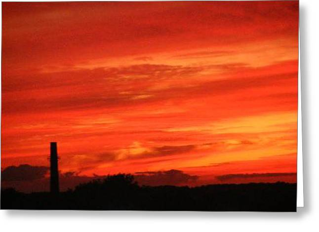 Blood-red Sky Greeting Card