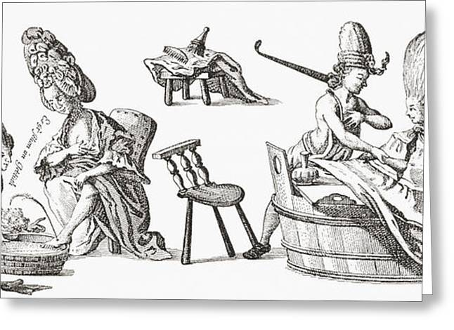 Bloodletting In The 18th Century. From Greeting Card by Vintage Design Pics