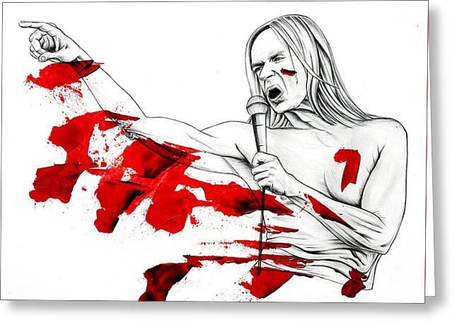 Bloody Iggy Greeting Card