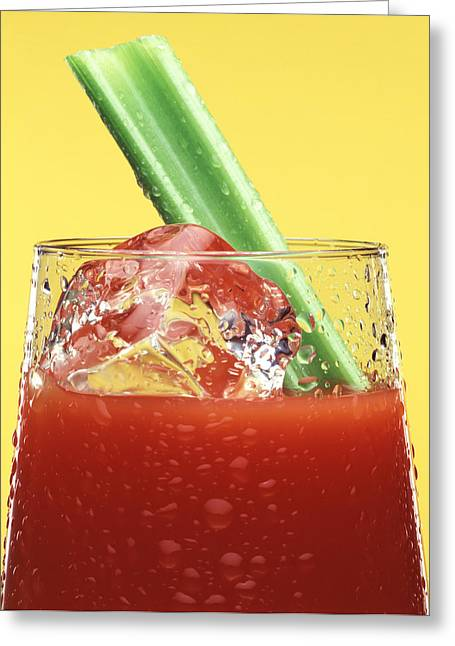 Bloody Mary Greeting Card by Steven Huszar