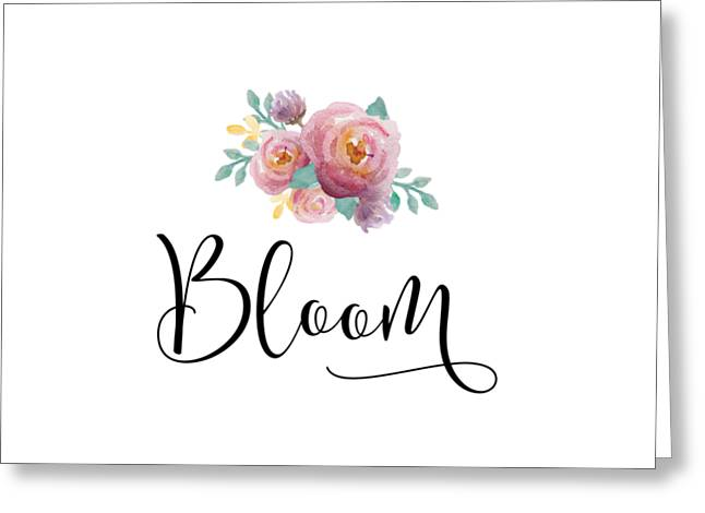 Bloom Greeting Card by Nancy Ingersoll