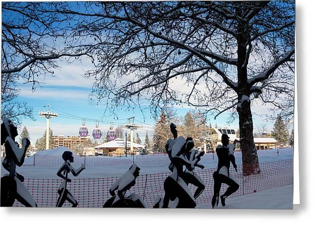 Bloomsday Spokane Winter Greeting Card by Daniel Hagerman