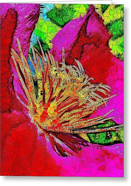 Blooming Bright Clematis  Greeting Card