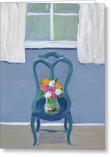 Blooming Chair Greeting Card by Stephanie Fluckey