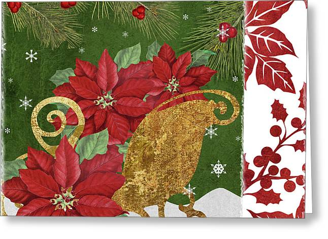 Blooming Christmas I Greeting Card