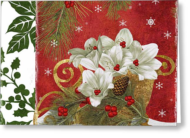 Blooming Christmas II Greeting Card