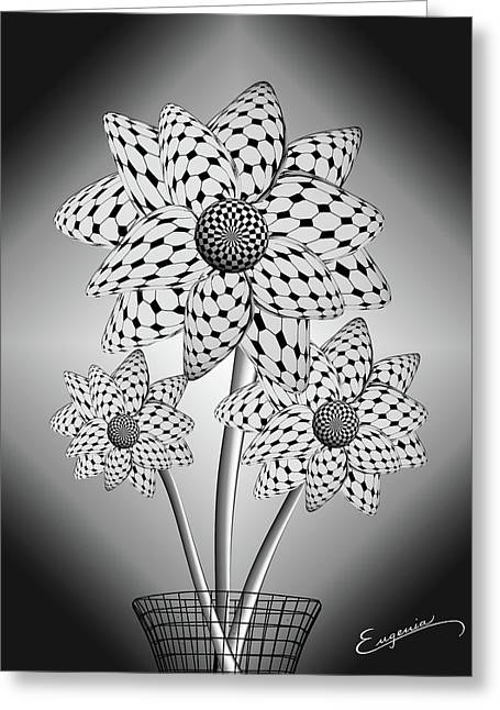 Blooming Flowers Greeting Card by Eugenia Martini-Jarrett