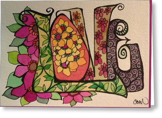 Blooming Love Greeting Card