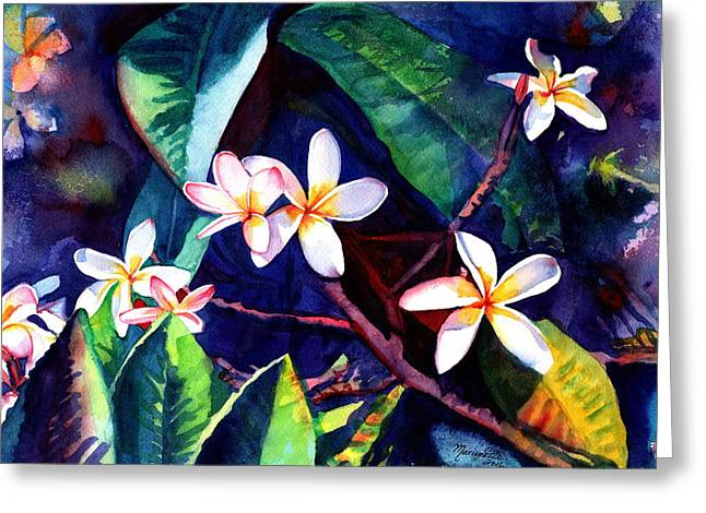 Blooming Plumeria Greeting Card