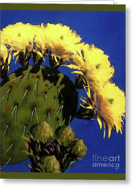 Blooming Prickly Pear Greeting Card