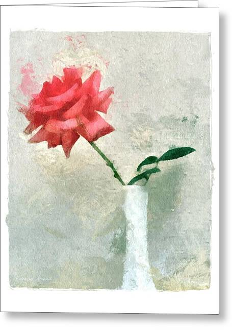 Blooming Rose Greeting Card