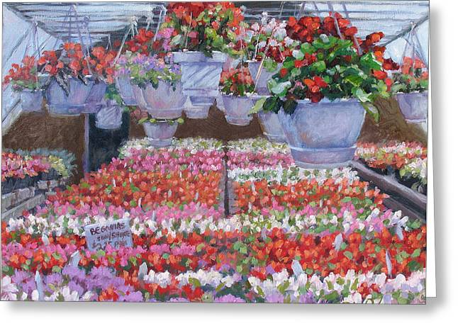 Blooms Ablaze Greeting Card by L Diane Johnson