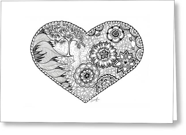 Blooms Greeting Card by Ana V Ramirez