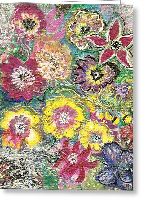 Blooms And Butterfly Greeting Card