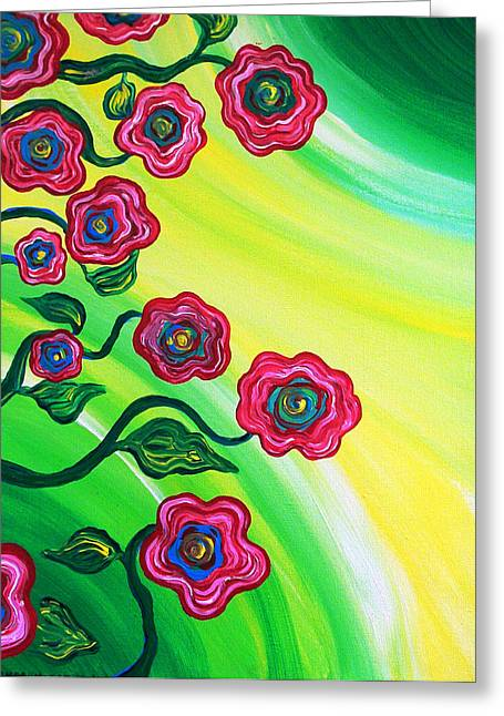 Blooms Greeting Card by Brenda Higginson