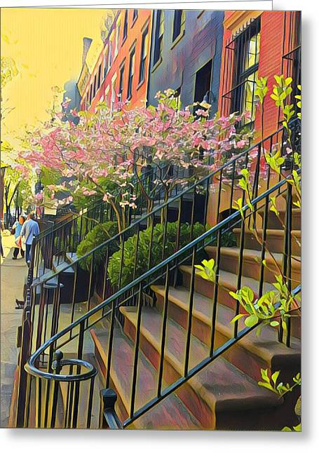 Blooms Of New York Greeting Card