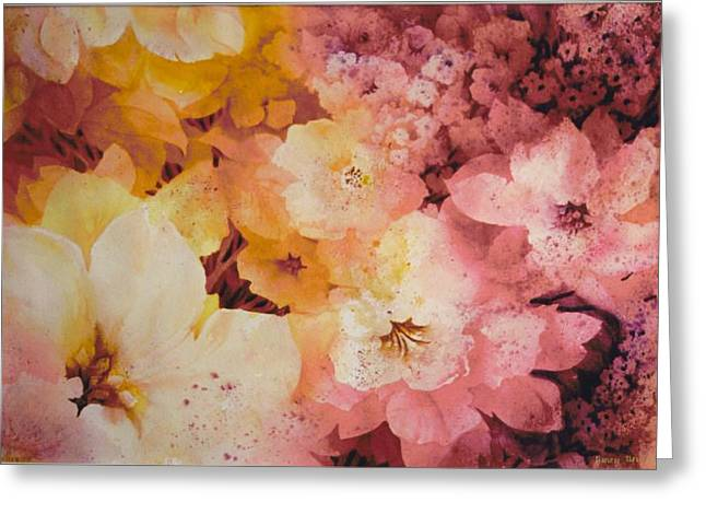 Blooms-of-summer Greeting Card by Nancy Newman
