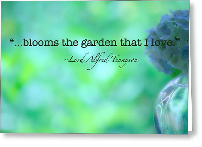 Blooms The Garden Greeting Card by Bonnie Bruno
