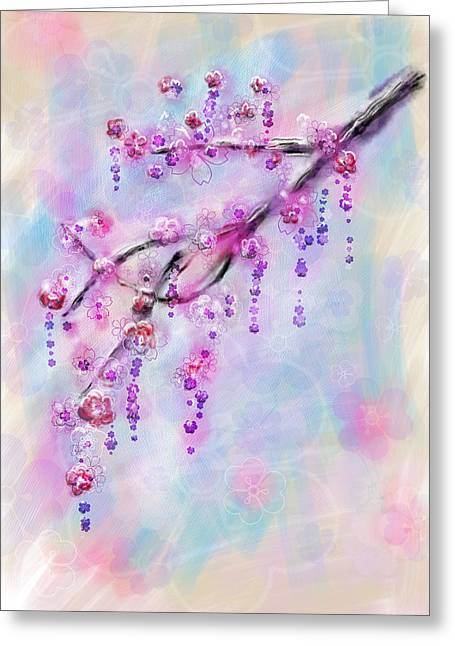 Blossom Cherry Branch Greeting Card by Svetlana Sewell