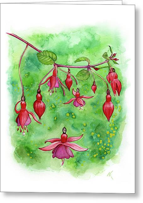 Blossom Fairies Greeting Card