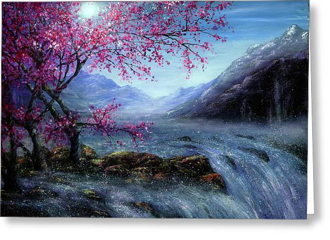 Blossom Falls Greeting Card by Ann Marie Bone