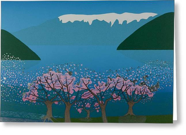 Blossom In The Hardanger Fjord Greeting Card by Jarle Rosseland