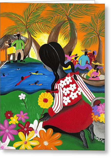 Blossom Greeting Card by Patricia Sabree