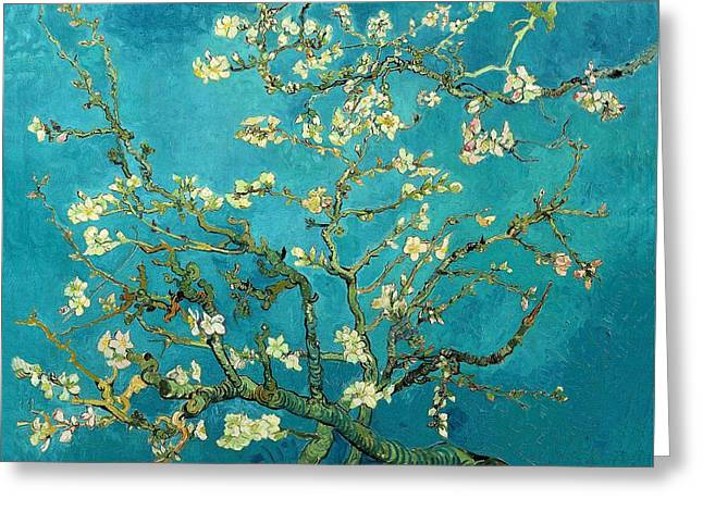 Greeting Card featuring the painting Blossoming Almond Tree by Van Gogh