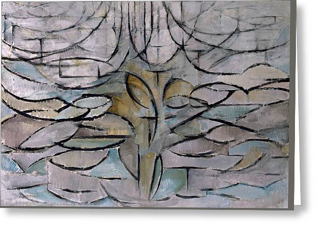 Blossoming Apple Tree Greeting Card by Piet Mondrian
