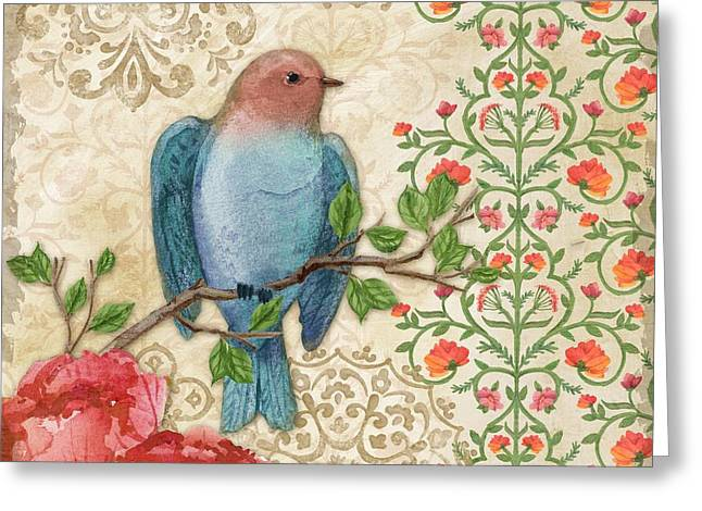 Blossoming Birds IIi Greeting Card by Paul Brent
