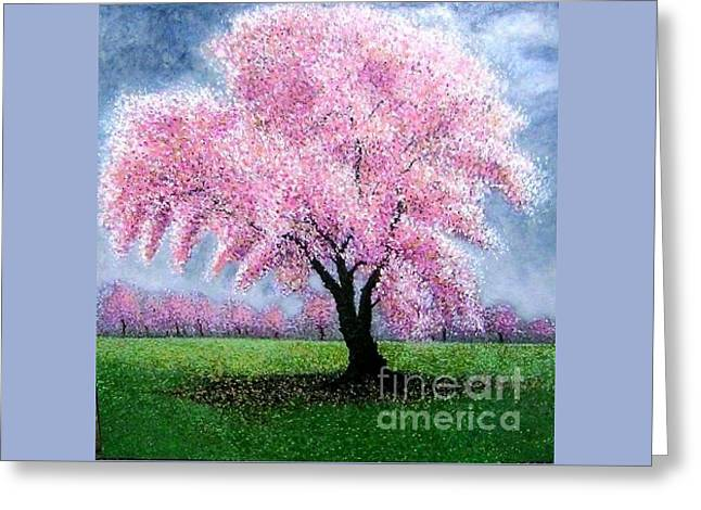 Blossoming Into Spring Greeting Card by Marie-Line Vasseur