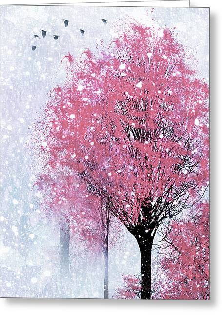 Blossoms In Winter Wall Art Greeting Card