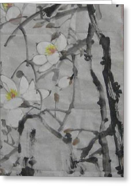 Blossoms Greeting Card by Min Wang