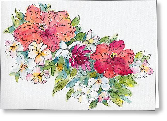 Blossoms Of French Polynesia Greeting Card