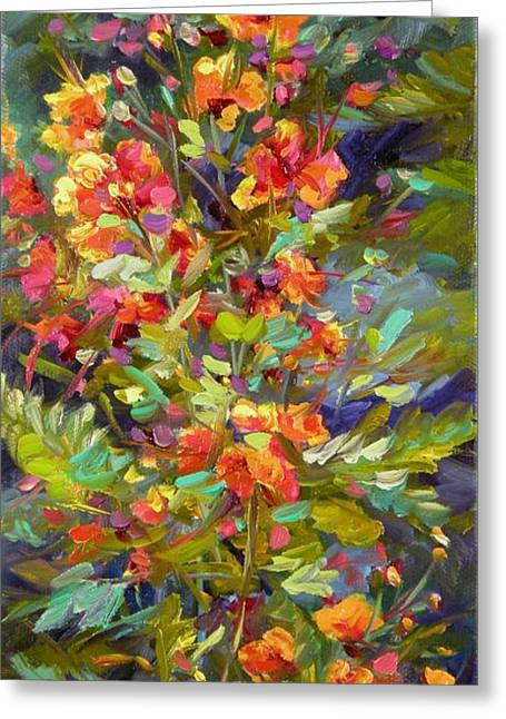 Greeting Card featuring the painting Blossoms Of Hope by Chris Brandley