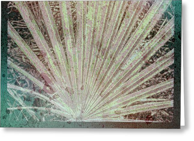 Blotch Palm Frond Greeting Card