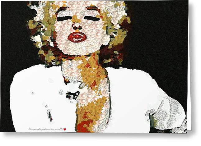 Blow Me A Kiss Marilyn Monroe In The Mix Greeting Card