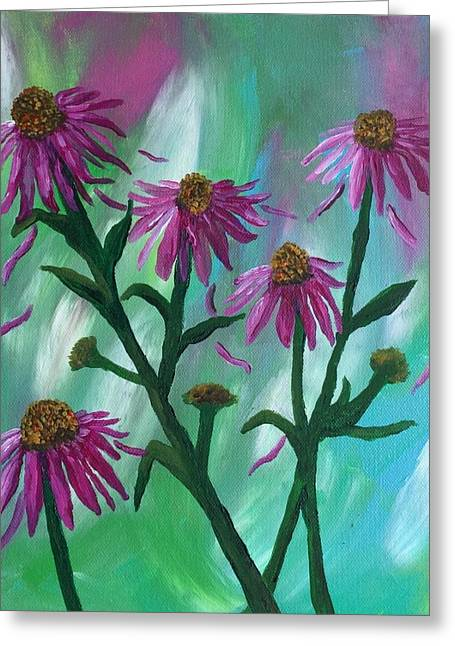 Blowing In The Wind  Greeting Card by Kim Mlyniec
