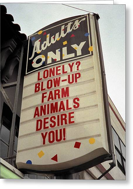 Blowup Farm Animals Sign Greeting Card