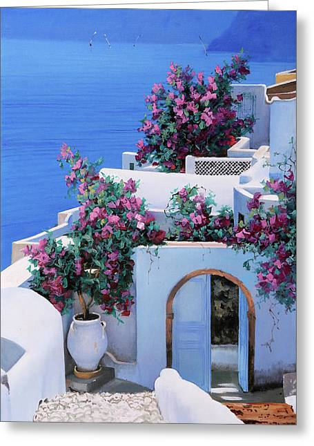 Blu Di Grecia Greeting Card